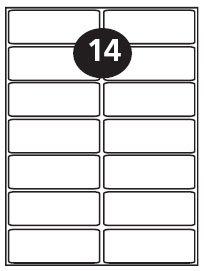 14 Per Sheet Laser Labels