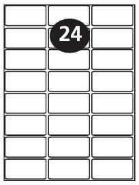 24 Per Sheet Laser Labels