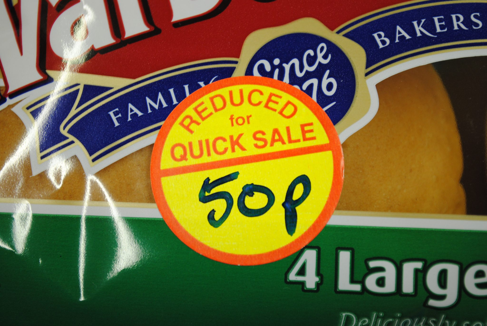 Circular Reduced For Quick Sale Label