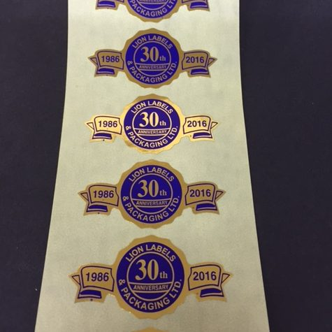 These Banner Labels are a really attractive label to promote an event or celebrate an anniversary.